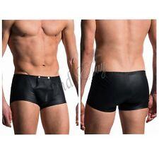 Trunk Mens bulge pouch Underwear Faux Leather Boxer Briefs Shorts Pants Clubwear