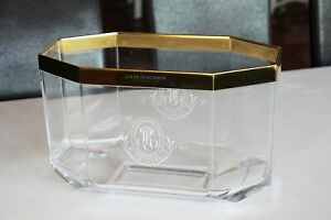 Vintage French Champagne Louis Roederer Cristal Large Ice Bucket Cooler Ice Bowl