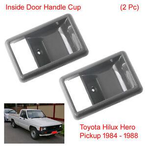 Pair Inner Inside Door Handle Bezel Cup For Toyota Hilux Hero Pickup 1984 - 1988