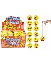 Bulk Wholesale Job Lot 48 Emoji Return Balls Toys
