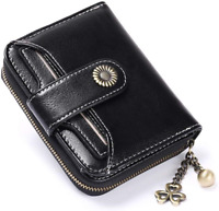 SENDEFN RFID Blocking Wallet for Women Genuine Leather Short Wallet Ladies Small