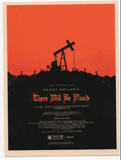 MONDO OLLY MOSS ROLLING ROADSHOW THERE WILL BE BLOOD POSTCARD PRINT MOVIE POSTER