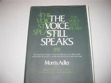 The Voice Still Speaks the Message of the Torah for Contemporary Man BY ADLER