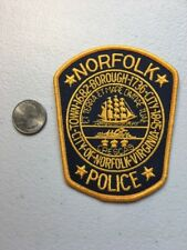 Norfolk Virginia Police Department Patch Va