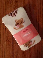 Nwt Vintage Gymboree Girls Tights Size 6-12 mos Kitty Glamour Line Cream Hearts