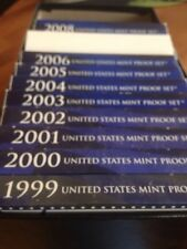 1999-2008 Proof sets Includes Statehood Quarters