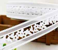 1m ribbon lace crafts Gift Wrapping Wedding decoration sewing  white flowers NEW