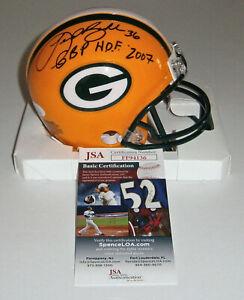 PACKERS Leroy Butler signed mini helmet w/ GBP HOF 2007 JSA COA Autographed