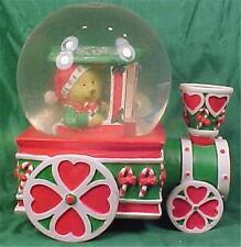 Current Snowdome & Music Box Teddy Bear in Train Christmas 1992