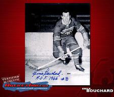 Emile Bouchard SIGNED Canadiens 8X10 Photo -70098