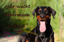 Dobermann Alu A4 Warnschild DB2
