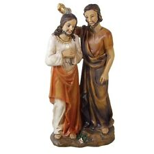 Skulptur Figur Johannes der Täufer tauft Jesus Polyresin 20 cm Religion