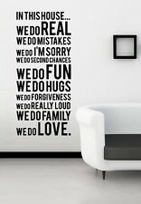 In This House We Do Wall Art Decal Quote 50 × 105cm Vinyl Sticker Home Decor DIY