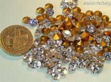 24 x Swarovski Crystal 26ss Diamanté gold-foiled # 1100 castoni
