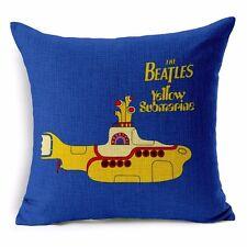 The Beatles YELLOW SUBMARINE Cushion Cover 45cm Retro Music Album Pillow Gift