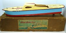 "M.S.K. JAPANESE PRE-WAR (?) WOODEN CABIN CRUISER BOAT - 16"" - BOXED"