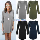 Sexy Women V Neck Chiffon 3/4 Sleeve T Shirt Casual Loose Short Dress Top Blouse