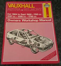 Haynes Manual 1136 Vauxhall Astra Belmont Oct 1984 to Sept 1986.
