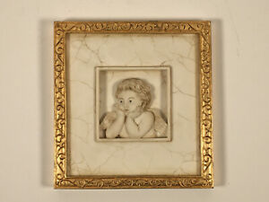 Marks & Spencer Hand Painted 3D Wall Hanging Plaque With Cherub Design
