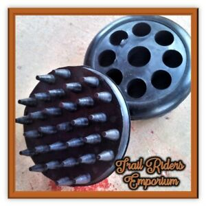 Rubber Curry Comb Hair Removal Horse Brush Rubber round BLACK only