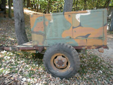 Usmc Military Trailer Mounted Portable Flood Light Generator 5kw 120208 V 3 Ph