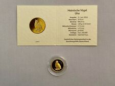 20 EURO Goldmünze - Uhu aus 2018 - Heimische Vögel - Prägestätte J