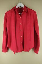 Vintage Stuart Lang Women's Fusia Striped 70's 80's Blouse Shirt M Medium