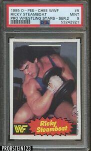 1985 O-PEE-CHEE OPC WWF Pro Wrestling Stars #5 Ricky Steamboat PSA 9 MINT
