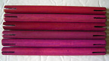 "Wooden Tinker Toys Part Lot: 6 Purple Rods ~4.75"" Glow in Dark Set Tinkertoy Pcs"