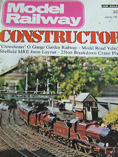 MODEL RAILWAY CONSTRUCTOR MAGAZINE JUN 1976 CREWCHESTER GARDEN MODEL ROAD VEHICL