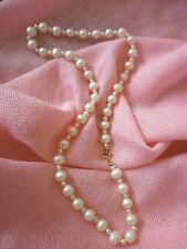 Collana di perle vere 8/3 mm. -fermaglio in oro 18 Kt  -#regaloperlei