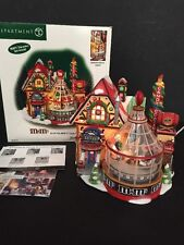 Department 56 North Pole Series M&M's Candy Factory Lights & Spins Xmas w/Box