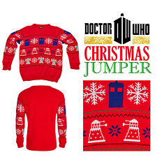 More details for doctor dr who jumper bbc tardis daleks christmas winter sweater collectables