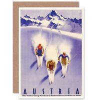 TRAVEL WINTER SPORT SNOW SKI CHALET ALPS AUSTRIA ART PRINT POSTERBB7712B