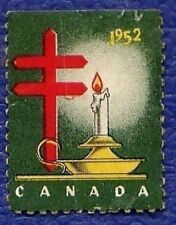 MB266 Vtg 1952 Canada TB Tuberculosis Christmas Seal Stamp