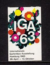 49214/ Reklamemarke - IGA ´63 - Hamburg 1963 - **