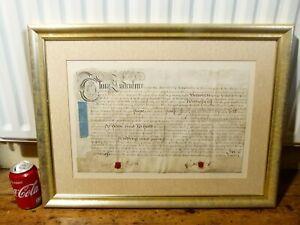 1728 George Prissick of Lyth Elizabeth Rayne of Northallerton Wax Seal Indenture