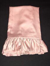 FAB! Ralph Lauren Powder Pink Silky Polyester One STD Ruffled Pillow Sham USA