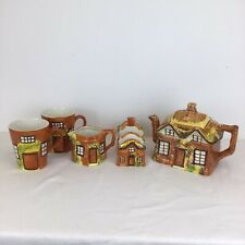 More details for price bros cottage ware teapot milk jug toast rack and 2 x mugs cups tableware
