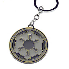 Movie Star Wars Imperial Empire Cog Logo Metal Keychains Pendant Key Chain 077