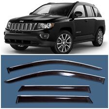 Chrome Trim Window Visors Guard Vent Deflectors For Jeep Compass 2013-2016
