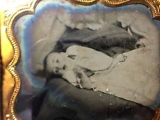 RARE VICTORIAN VINTAGE DEATH POST MORTEM CHILD: Post Mortem Ambrotype of a Baby