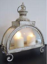 País Francés Antiguo Chic Crema Grande Linterna Sostenedor de Vela Decoración del hogar NUEVO