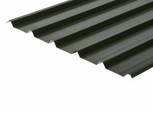Juniper Green Yard Stock 12ft 0.5mm Polyester Box Profile  Sheets 32/1000 Devon