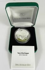 2012 YEAR OF THE DRAGON Silver Proof Coin in Case