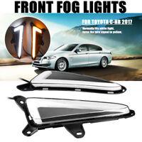 For Toyota CHR C-HR 2017 LED Car Front Fog Light DRL Daytime Running Lights 2PCS