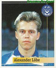 214 ALEXANDER LOBE GERMANY MSV DUISBURG STICKER FUSSBALL 1995 PANINI