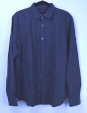 Bloomingdale's Men's Button Up Long Sleeve GreyWhiteNEP Shirt Size L NWT
