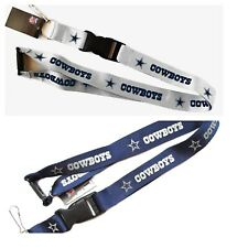 DALLAS COWBOYS LANYARD KEYCHAIN KEYRING NFL WITH CLIP YOU PICK THE COLOR