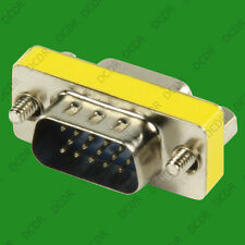 15 Pin VGA SVGA Gender Changer Adaptor Connector M/m Male to male Monitor TFT
